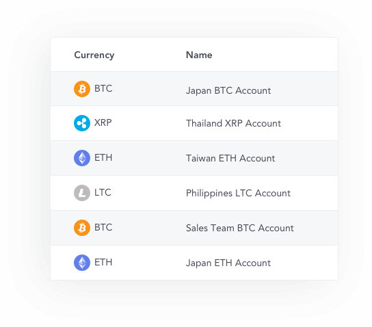 Multiple wallet and currency management from a single interface